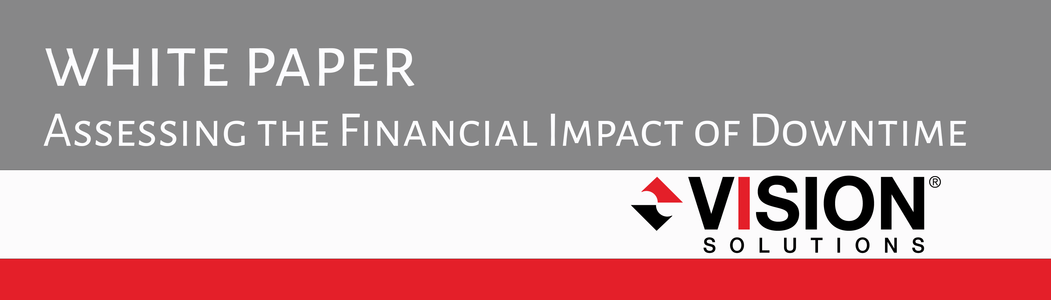 White-Paper_Assessing the Financial Impact of Downtime